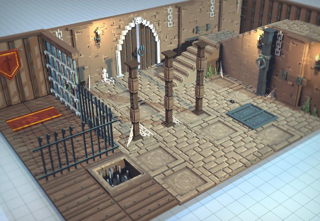dungeon asset template