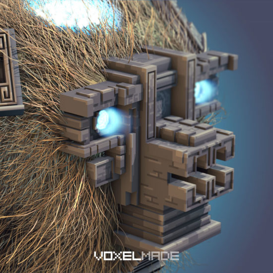 shadow of the colossus fanart voxel